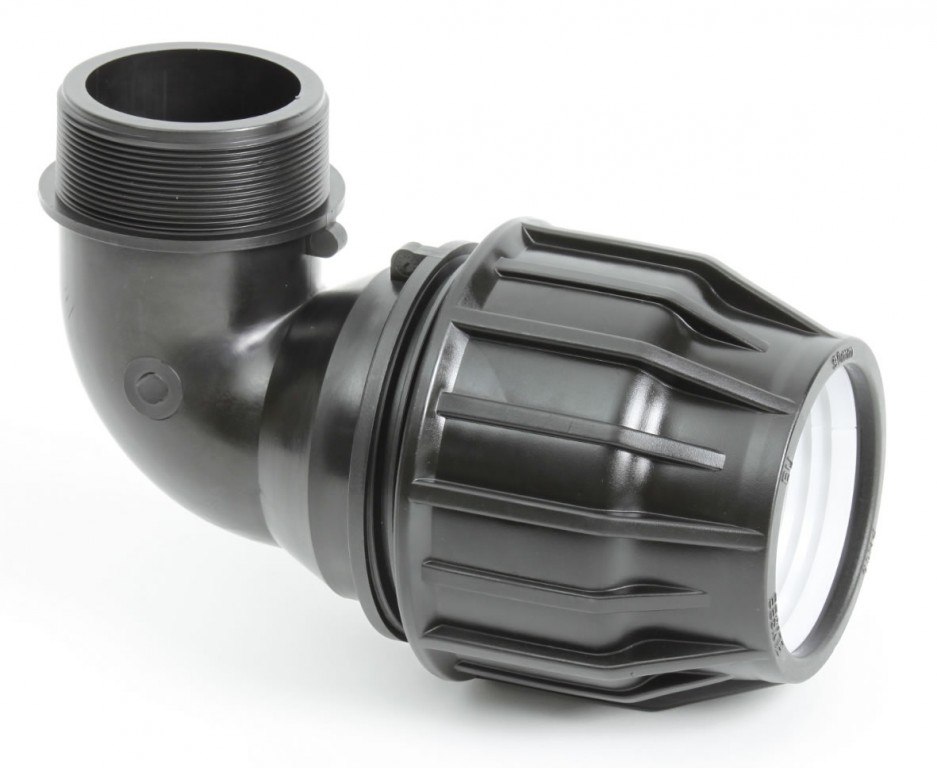 Metric Pipe Male Elbow